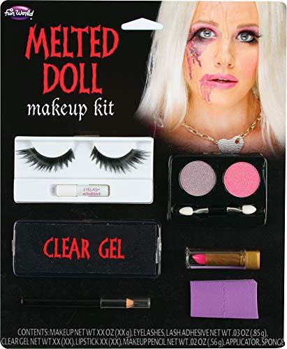 Melted Doll Makeup Kit Eyelashes Gel Sponge Face Paint Halloween Accessory