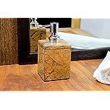 KLEO Soap Dispenser - Made of Genuine Natural Multicolor Stone - Luxury Bathroom Accessories Bath Set