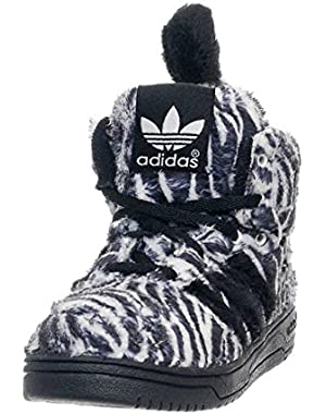 Jeremy Scott Zebra I Infant / Toddlers Shoes Designer Sneakers Black/ Running White G95762