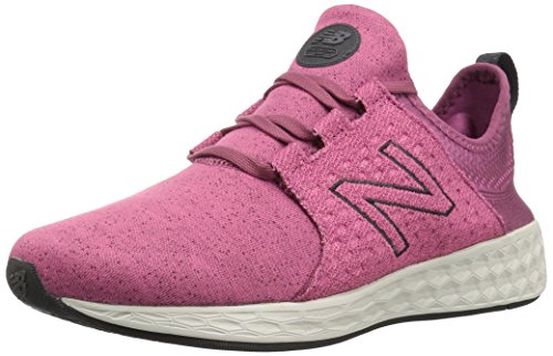 New Balance Women's Fresh Foam Cruz v1 Retro Hoodie Running Shoe, Dragon Fruit/sea Salt, 11 B US