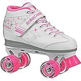 Roller Derby Girls Sparkle Lighted Wheel Roller Skate, White, Size 13
