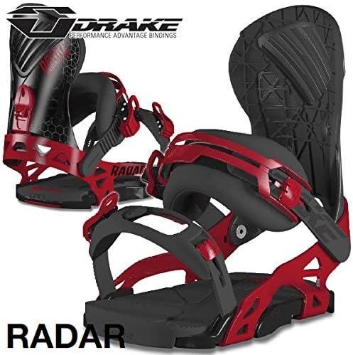 18-19 DRAKE/ドレイク RADAR レーダー メンズ ビンディング バインディング スノーボード 2019 L(26.5~28.5cm) 黒-赤