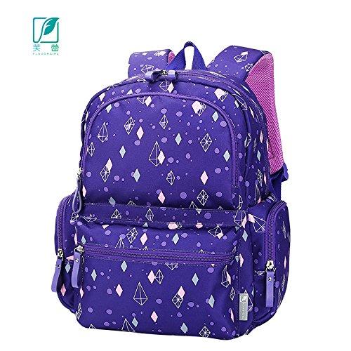 MLF-Cambio de pañal Pañales de bebé bolsa grande multi-bolsillo mochila impermeable,púrpura Dark Purple