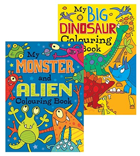 Squiggle Boys A4 My Monster Alien Big Dinosaur Colouring Books Set Of 2 Buy Online In Aruba At Aruba Desertcart Com Productid 159447496