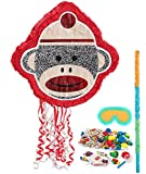 Sock Monkey Party Supplies - Pinata Kit