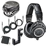 Audio-Technica ATH-M50x Monitor Headphones (Black) (w/ Hard Case)