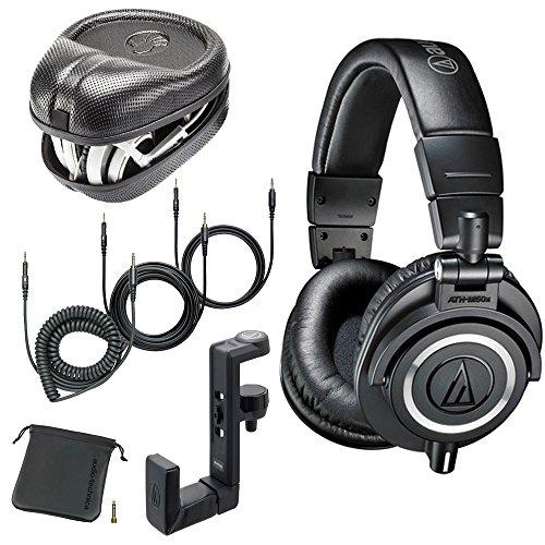 Audio-Technica ATH-M50x Monitor Headphones (Black) (w/Hard Case) ()