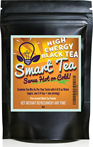 Smart Tea Instant Black Tea Powder - Pure Tea - No Fillers, Additives or Artificial Ingredients of Any Kind (4 oz)