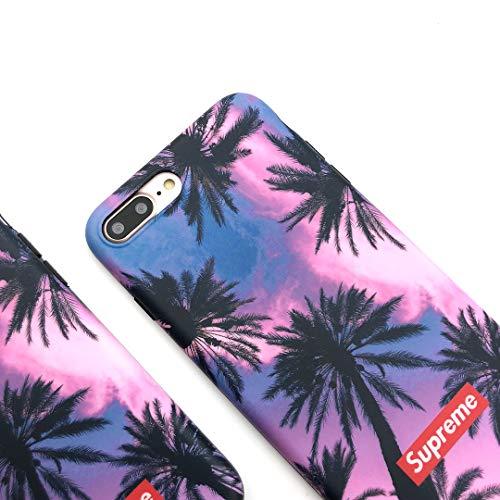 iPhone8 Plus Case, iPhone7 Plus Case, DWARM Street Fashion Coconut Soft TPU Slim Fit Case for iPhone8 Plus ()