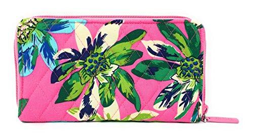 Vera Bradley Accordion Wallet (Tropical Paradise with Blue Interior)