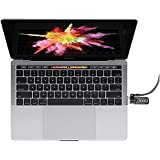 Maclocks MBPRLDGTB01CL Security Laptop Ledge Lock Adapter with Combination Cable Lock for MacBook Pro with Touch Bar