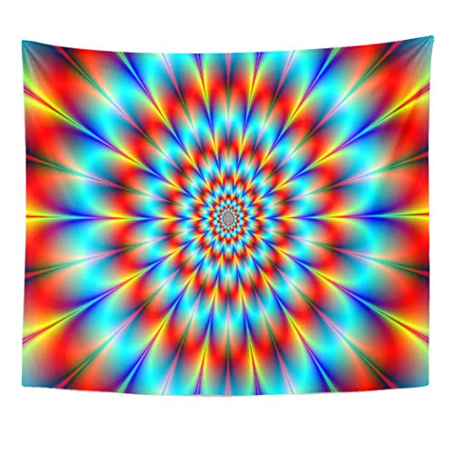 Semtomn Tapestry Artwork Wall Hanging Mindbending Critical Mass Hypnosis Trippy Experiences Space Triptych Multi 60x80 Inches Tapestries Mattress Tablecloth Curtain Home Decor Print ()