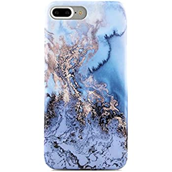 Amazon Com Blue Gold Marble Iphone 7 Plus Case Cover By