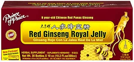 PRINCE OF PEACE RED GINSENG ROYAL JELLY, 30X10 CC