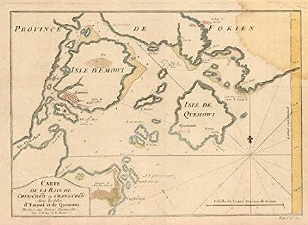 Xiamen China Map.Carte De La Baye De Chin Chew Bellin China Amoy Xiamen Fujian