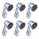 """6 Pack 4"""" Retrofit LED Can Air Tight IC Housing LED Recessed Lighting, E26 Screw in Base"""
