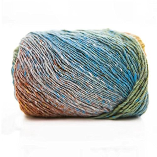 (Celine lin One Skein Luxury Artist Painting Colorful Knitting Crochet Yarn 100g,Multi-colored01)