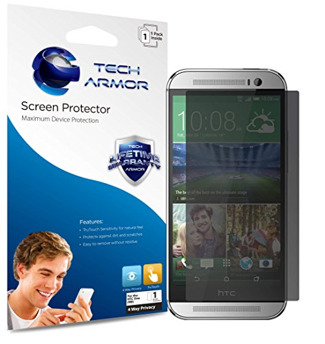 One (M8) Privacy Screen Protector, Tech Armor 4Way 360 Degree Privacy HTC One (M8) Film Screen Protector [1-Pack] Universal Privacy Screen