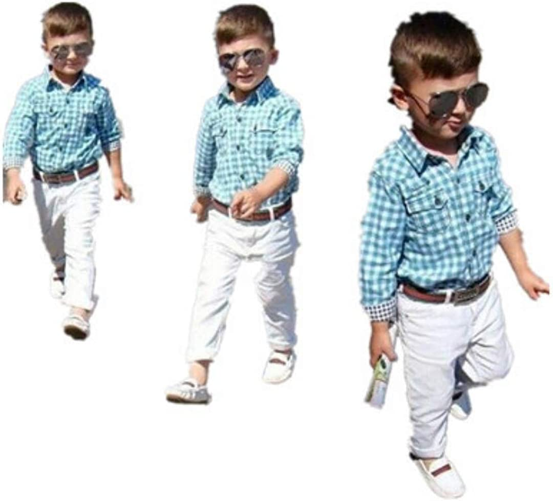 SE Smiley Ever Baby Boy Clothing Baby boy Pants and Long Sleeve Shirt Casual Sets