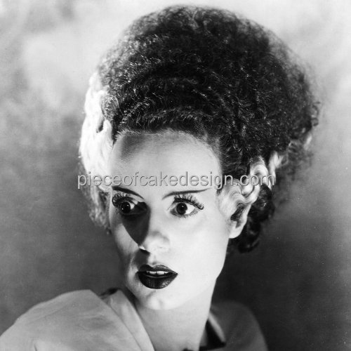1/4 Sheet ~ Bride of Frankenstein Halloween ~ Edible Cake/Cupcake Topper!!! ()