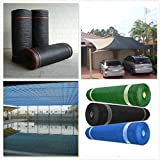 Katoot@ 55% Shade Rate 6' x 16' HDPE Shade Net for Garden and Greenhouse Car Roof Sun Mesh Shade Cloth UV Resistant (6'x16', Green)