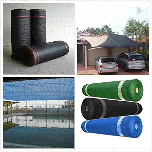 - Katoot@ 55% Shade Rate 6' x 16' HDPE Shade Net for Garden and Greenhouse Car Roof Sun Mesh Shade Cloth UV Resistant (6'x16', Blue)