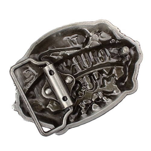 MagiDeal I Love Country Music 3D Guitar Belt Buckle Men Girl Vintage Western Rock Roll - Rock Music Buckles Belt