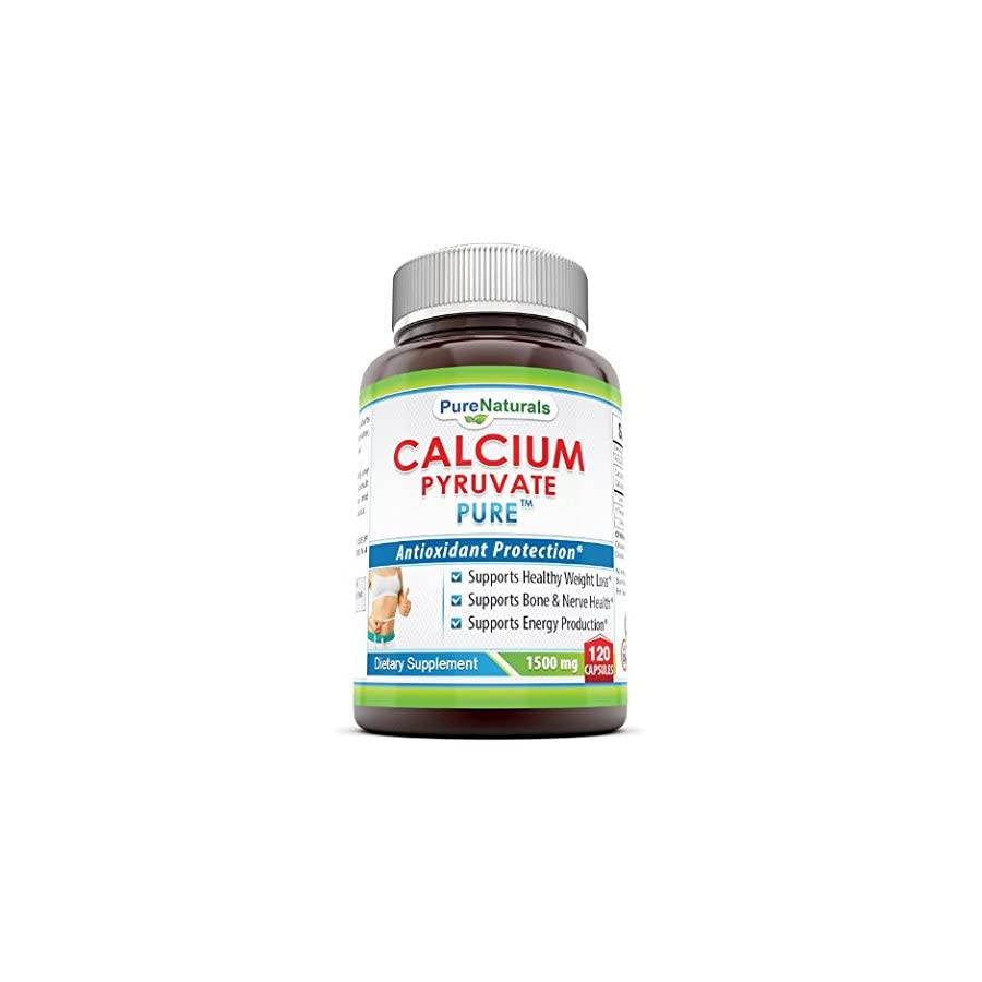 Pure Naturals Calcium Pyruvate, 750 Mg, #1 Fat burning Formula for Thighs Helps Support Metabolism