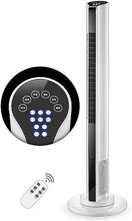 Opinión sobre FHDF Ventilador de Torre silencioso oscilante con Mando a Distancia, Portátil Bladeless aspas Tower Fans 3 velocidades 3 Modos 15H Temporizadorr para El Hogar Y La Oficina, 50 W, Blanco