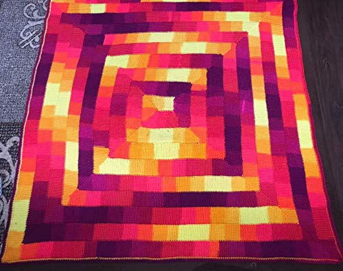 Image of Home and Kitchen Handcrochet Tunisian Blanket