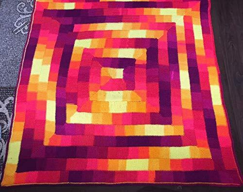 Image of Handcrochet Tunisian Blanket
