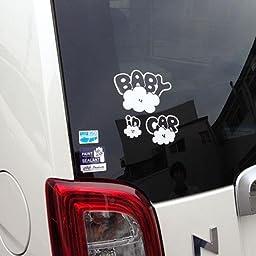 Amazon Co Jp No Border Orizinarudoraibusain Sticker Cloud Family Baby In Car Seal Type Stc 002ag Small Baby Maternity