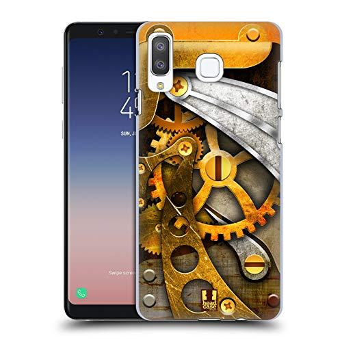 Head Case Gears - Head Case Designs Gears Steampunked Hard Back Case Samsung Galaxy A8 / A9 Star