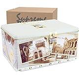 Italian Fine Pastry Cookies Assortment From Verona | 6 Different Filling - Hazelnut Chocolate Milk, Raspberry Cashews Almond, Cocoa Cream & Shortbread Cocoa | 24.69 Oz Gift Box Tin (Holiday)