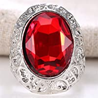 Ransopakul Huge 7.4CT Emerald Ruby Sapphire 925 Silver Wedding Bridal Ring (8)