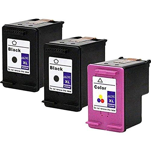 LOVEINK 662XL CZ105AL CZ106AL Ink Cartridges for HP Deskjet Ink Advantage 2545 2645 Printer 3 Pack(2 Black / 1 ()