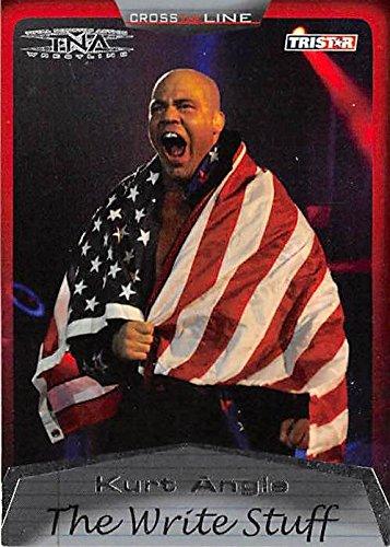 Kurt Angle trading card (Wrestling TNA Wrestler) 2008 TS #86 Write (The Write Angle)