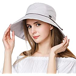 Womens Sun UV Protection Hats Cap Summer Garden Shade Sunblock Hat Crushable XL Big Grey SiggiHat