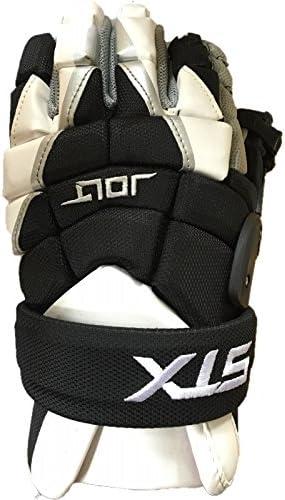 STX JoltラクロスGoalie Gloves–Large / 13インチ、ブラックとホワイト