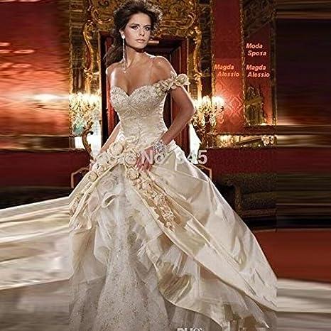 Vestito Da Sposa Western.Aiu L Western Wedding Abiti Una Spalla Fiore Collare Vita Sexy