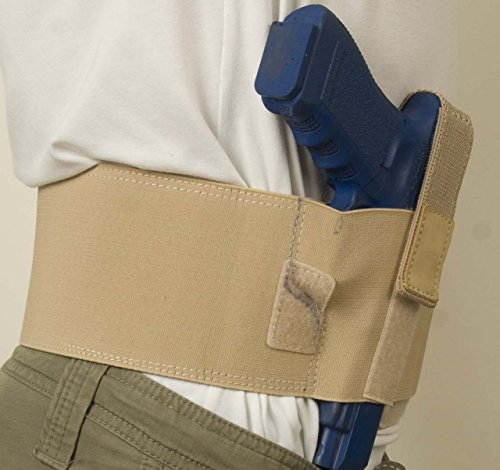 Cebeci 10218RT01 Belly Band Tan 10218 Fits Most Med-Large Frame Autos & Revolvers Up TP 4'' BBL Holster, Right-Hand, Beige