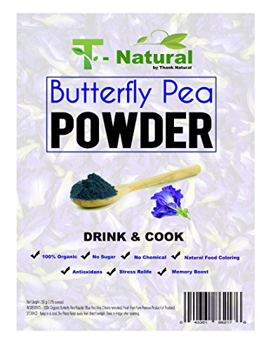 Organic Dried Butterfly Pea Flower Powder 1.60 OZ – 100% Pure And All Natural Herbal Blue Tea, Energy And Focus Booster For Beverages, Smoothies, Baking – With Free Tea Wooden Spoon Review