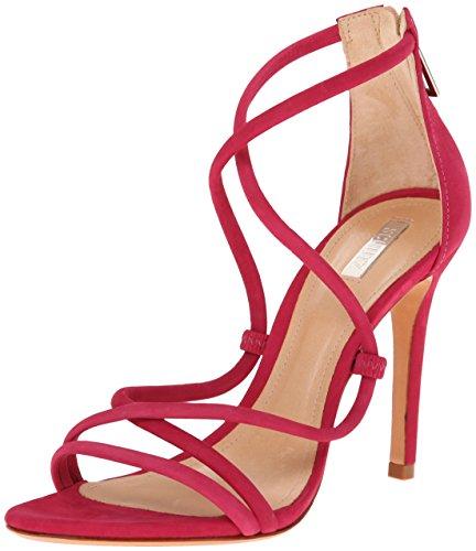 Schutz Women's Brasilian Dress Sandal, Rose Red, 6.5 M US