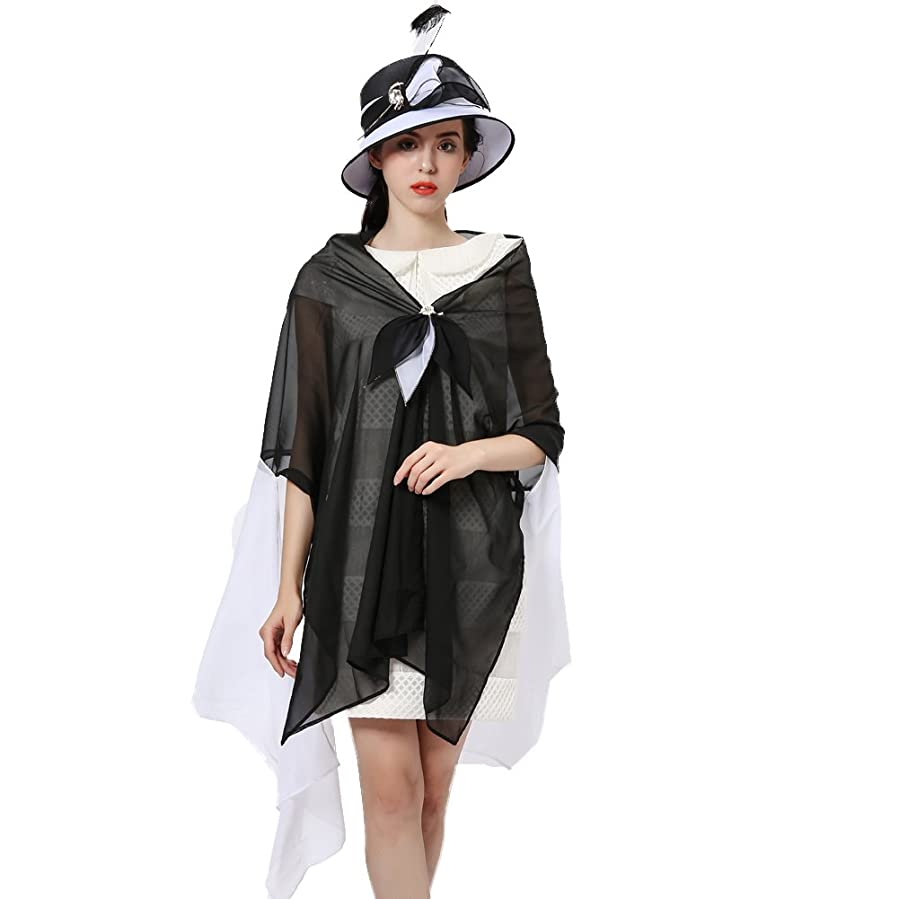 Connected apparel dress black and white feathers