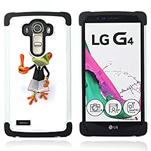 - smart book teach white frog/ H??brido 3in1 Deluxe Impreso duro Soft Alto Impacto caja de la armadura Defender - SHIMIN CAO - For LG G4 H815 H810 F500L