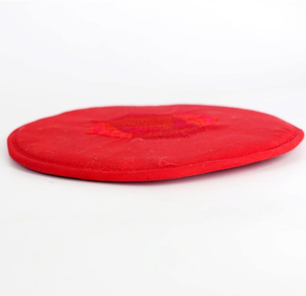 Rouge Hellery Oreiller De Coussin De Bol Chantant Tib/étain Rond pour Le Bouddhisme Dharma Rouge 10cm