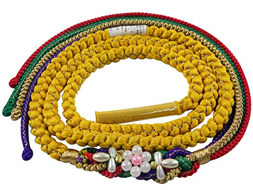 正絹 パール飾り付き 手組 振袖用 帯締め 全6色
