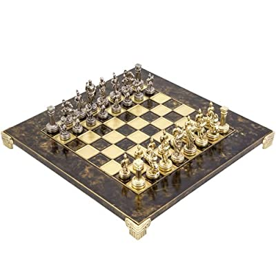 Greek Roman Army Metal Chess Set