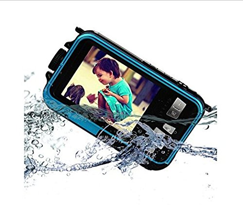 Emperor of Gadgets Double Screen Selfie Feature Waterproof 16x Zoom HD Digital Camera - Perfect Travel Vacation Photo Video Camera