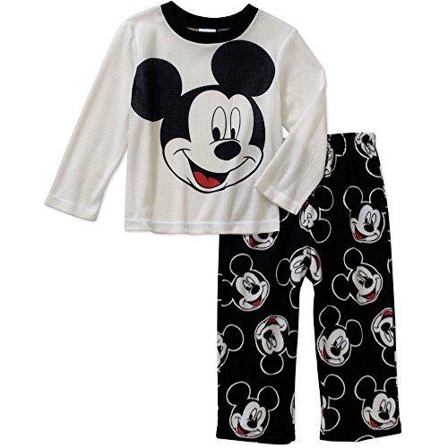 Disney Little Boys' Mickey Mouse Fleece Pant Pajama Sleepwear 2 Piece Set (2T) by Mickey Mouse (Image #1)